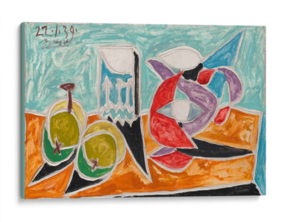 Fruits-and-pitcher-Pablo-Picasso-Canvas
