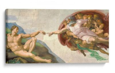 La-creación-de-Adán---Miguel-Ángel-Canvas