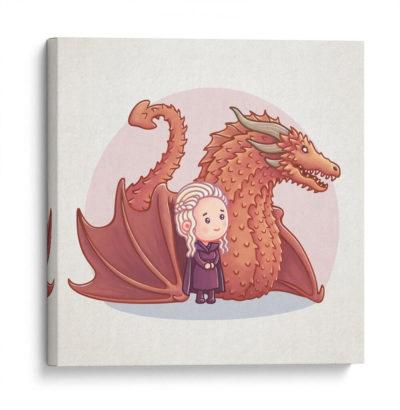 Dragón-Rojo-con-su-madre-Canvas