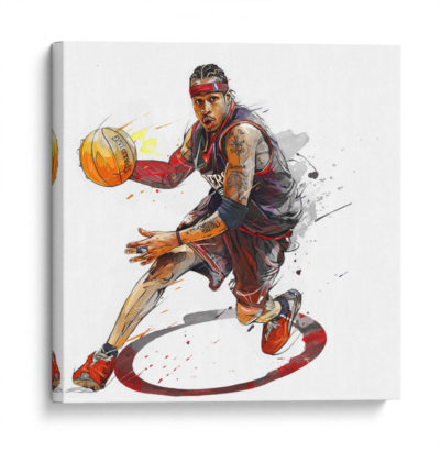 Iverson-sixers-Canvas