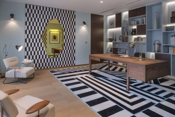 oficina art deco decoracion geometrica