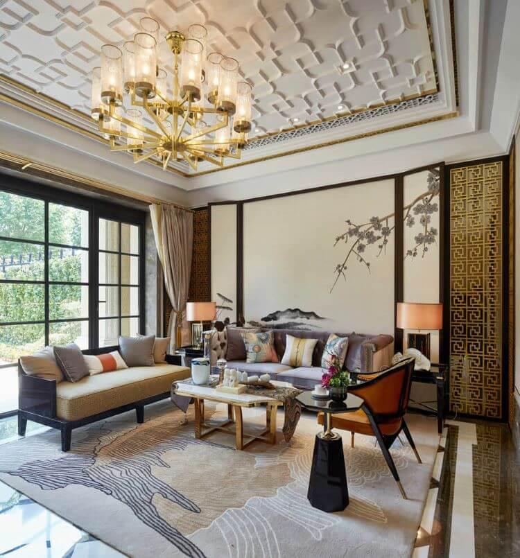 Luxurious-Asian-Living-Room-Design
