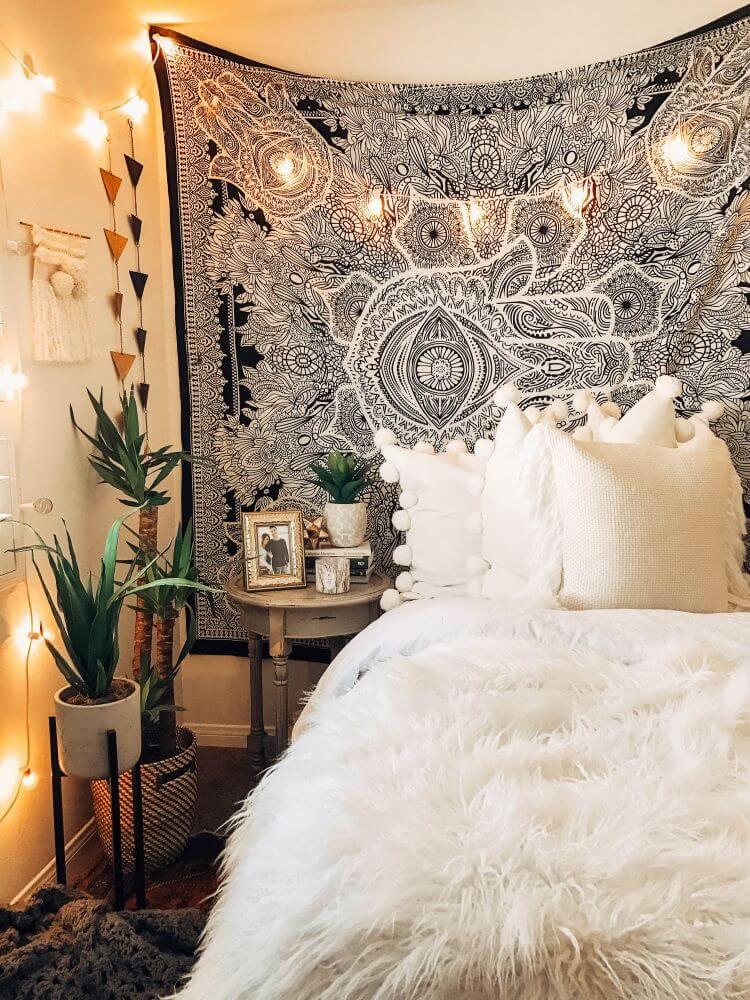 dormitorio con personalidad oriental