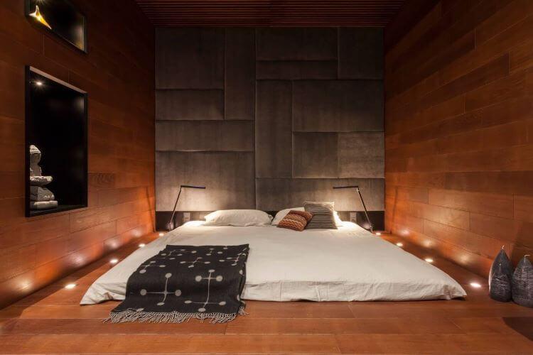 dormitorio simple oriental