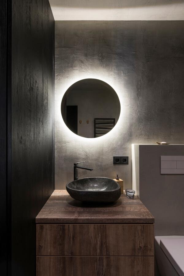 espejo industrial moderno circular