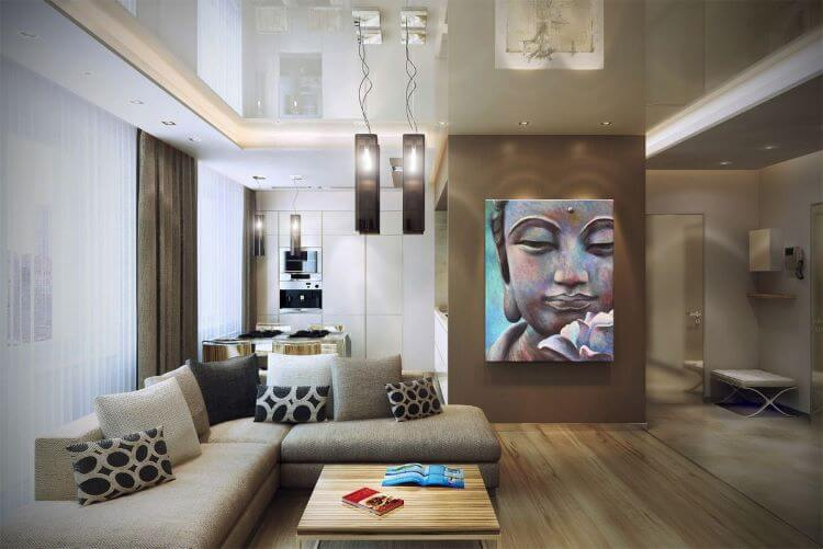sala con decoracion thai