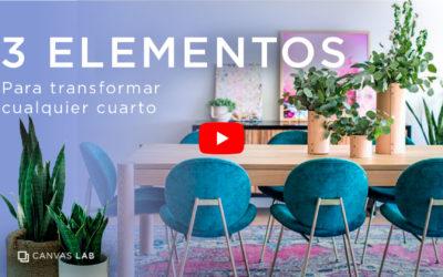 Tres elementos para transformar cualquier cuarto